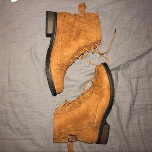 Shoes - Cognac combat boots